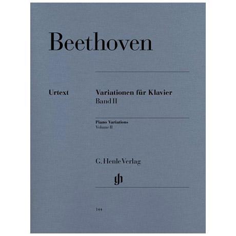 Beethoven, L. v.: Variationen für Klavier Band II