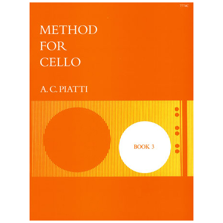 Piatti, A. C.: Method for cello vol.3