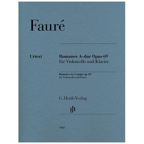 Fauré, G.: Romance Op. 69 A-Dur