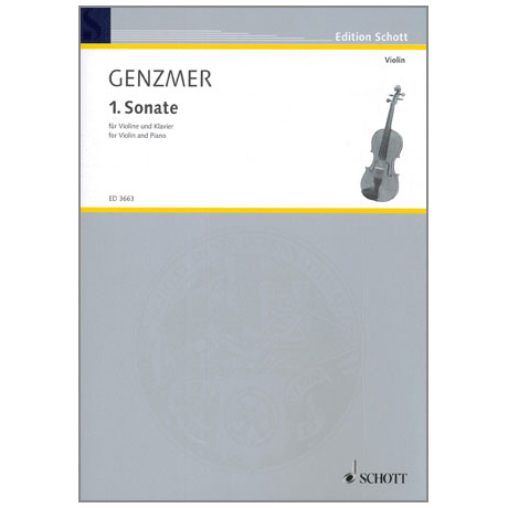Genzmer, H.: Violinsonate Nr. 1 GeWV 222