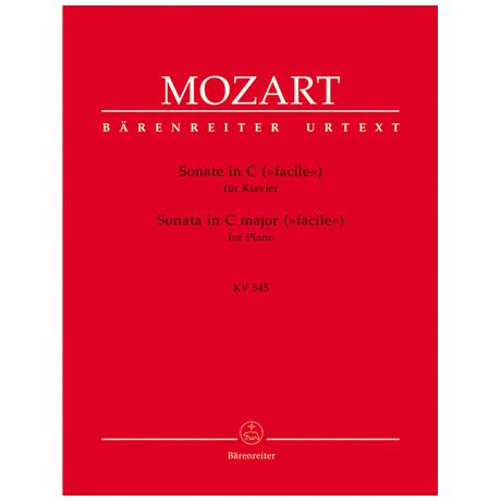 Mozart, W. A.: Sonate KV 545 C-Dur »Facile«