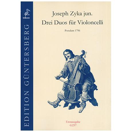 Zyka, J. jun.: 3 Duos für Violoncelli
