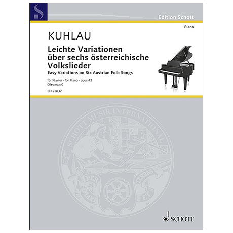 Kuhlau, F.: Leichte Variationen über sechs österreichische Volkslieder Op. 42