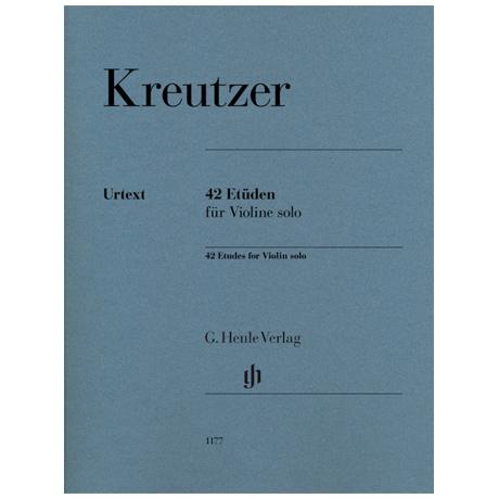 Kreutzer, R.: 42 Etüden für Violine solo