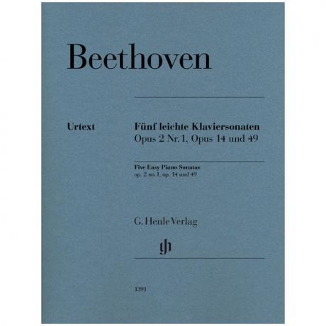 Beethoven, L. v.: 5 leichte Klaviersonaten Op. 2/1, 14, 49