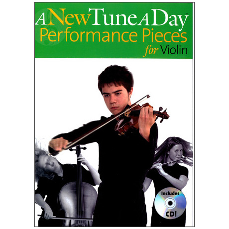 A new Tune a Day : Performance Pieces for violin