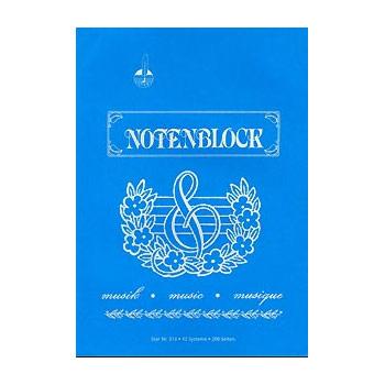 STAR Notenpapier Skizzenblock DIN A4 hoch