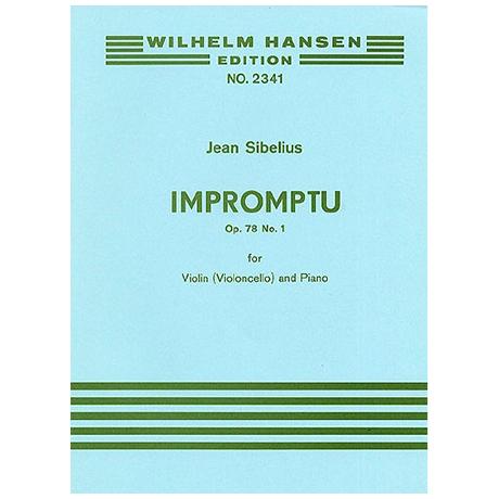 Sibelius, J.: Aus »4 Stücke« Nr. 1 Impromptu Op. 78/1 (1915)