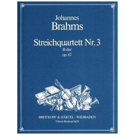 Brahms, J.: Streichquartett B-Dur, op. 67