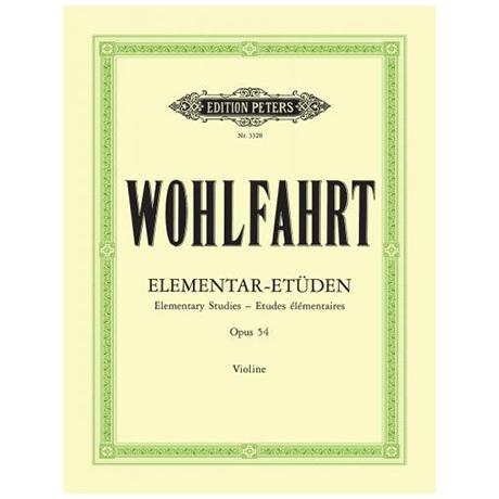 Wohlfahrt, F.: 40 Elementar-Etüden Op. 54 (Sitt)