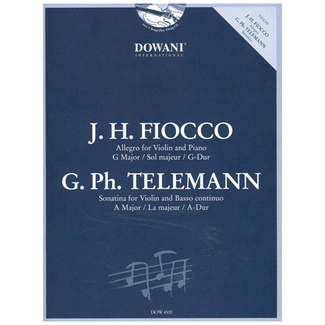 Fiocco: Allegro in G-Dur / Telemann: Sonatina in A-Dur (+CD)