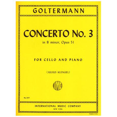 Goltermann, G.: Konzert Nr. 3 in h-moll op. 51