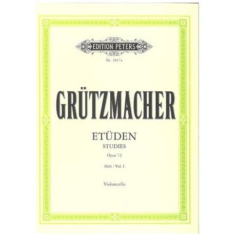 Grützmacher: 12 Etüden für Anfänger mit Vc II ad lib. Op. 72 Bd. 1