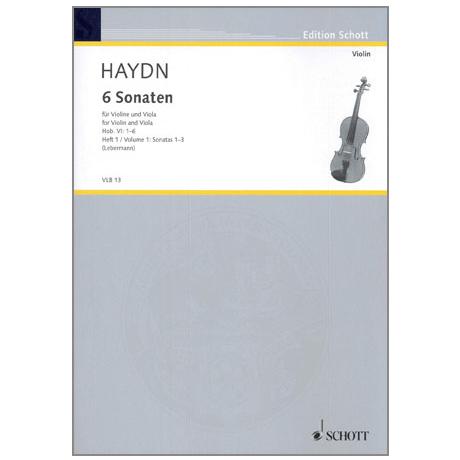 Haydn, J.: 6 Violasonaten Hob.VI: 1-3