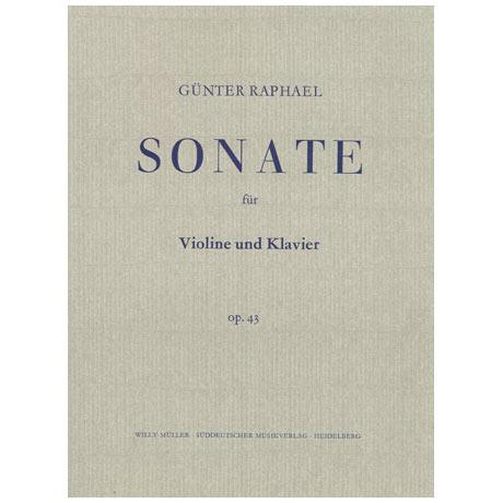 Raphael, G.: Violinsonate Nr. 3 Op. 43 C-Dur