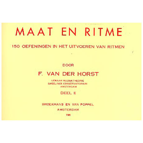 Horst, F. v. d.: Maat en ritme Band 2