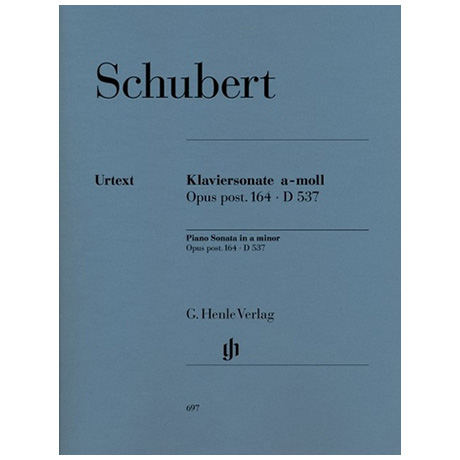 Schubert, F.: Klaviersonate a-Moll Op. post. 164 D 537