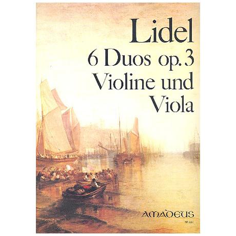 Lidel, A.: 6 Duos Op. 3 (Nr.1-3)