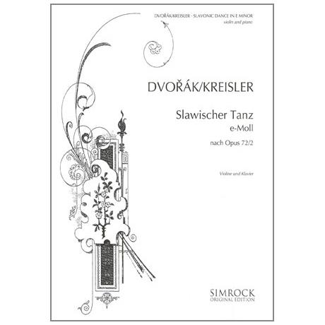 Dvořák, A.: Slawische Tanzweisen Nr. 2 e-Moll
