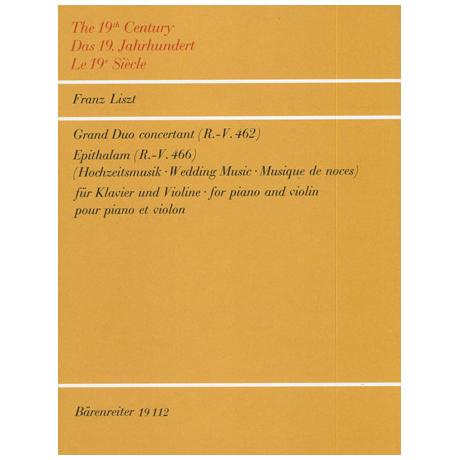 Liszt: Grand Duo concertant über die Romanze 'Le Marin' Epithalam RV 466