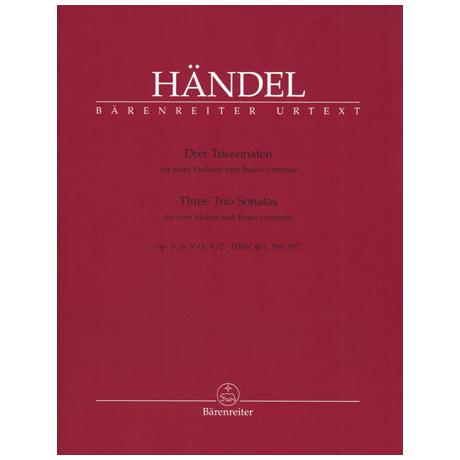 Händel, G.F.: Drei Triosonaten Op.5 HWV 397,398,40