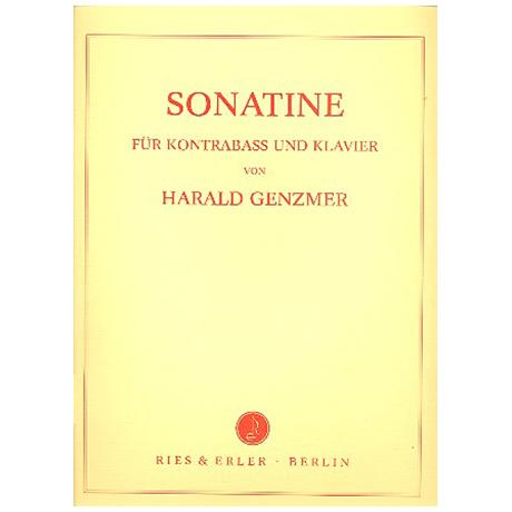 Genzmer, H.: Kontrabasssonatine