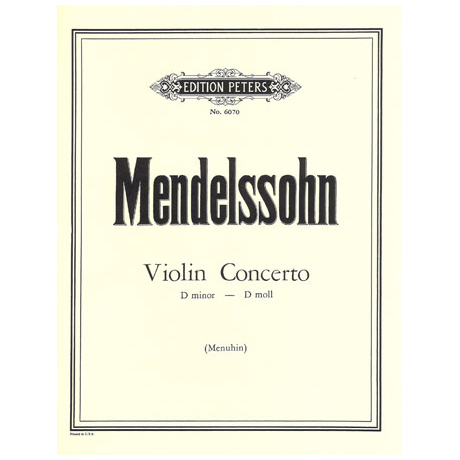 Mendelssohn Bartholdy, F.: Violinkonzert d-Moll, Erstausgabe