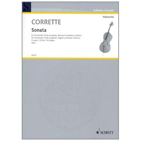 Corrette, M.: Violoncellosonate Op. 20/6 D-Dur aus »Les Délices de la Solitude«