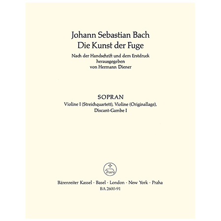 Bach, J. S.: Die Kunst der Fuge BWV 1080 – Violine 1 oder Viola da Gamba 1