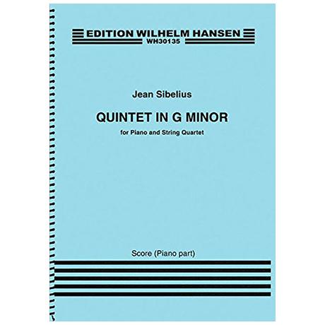 Sibelius, J.: Klavierquintett g-Moll (1889/90) – Streicher