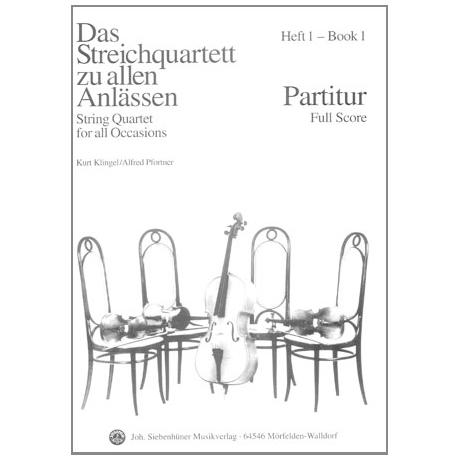 Das Streichquartett zu allen Anlässen Band 1 – Partitur
