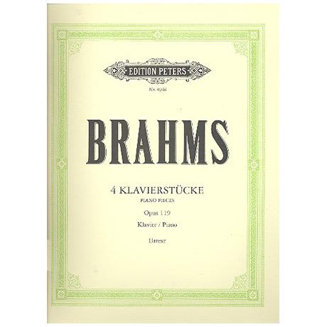 Brahms, J.: 4 Klavierstücke Op. 119