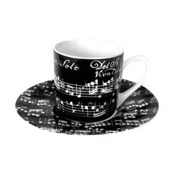 Espressotasse Vivaldi schwarz