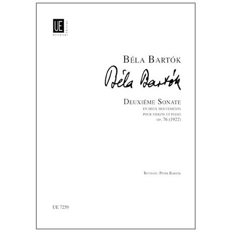 Bartók, B.: Violinsonate Nr. 2