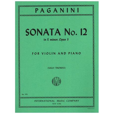 Paganini, N.: Sonate Nr. 12 e-moll op. 3