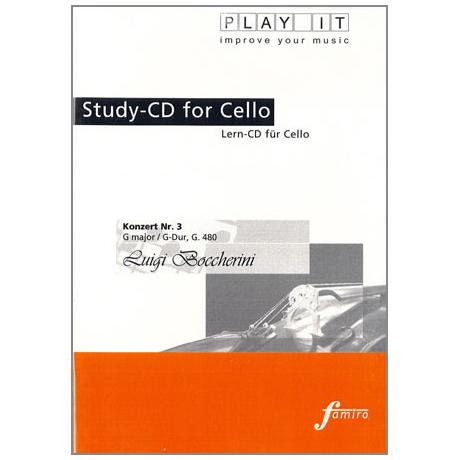 Boccherini, L.: Violoncellokonzert G-Dur G 480 Play-Along-CD (nur CD)
