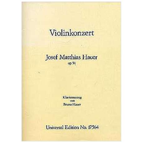 Hauer, J. M.: Violinkonzert Op. 54