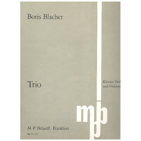 Blacher, B.: Klaviertrio