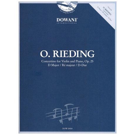 Rieding, O.: Concertino Op. 25 D-Dur (+CD)