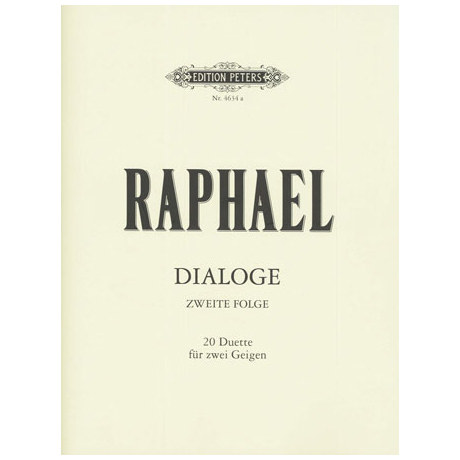 Raphael, G.: Dialoge - Zweite Folge