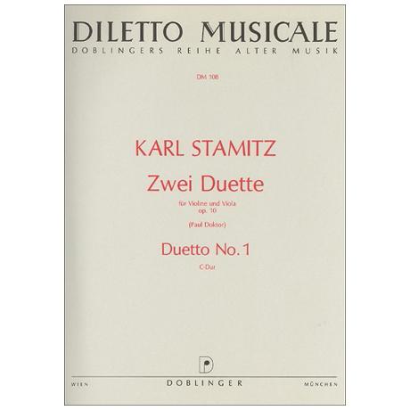 Stamitz, K.: 2 Duette Op. 10/1 C-Dur