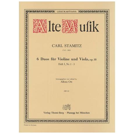 Stamitz, K.: 6 Duos Op. 18 Band 1 (Nr.1-3)