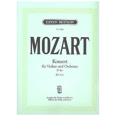 Mozart, W.A.: Violinkonzert Nr. 7 D-Dur, KV 271i