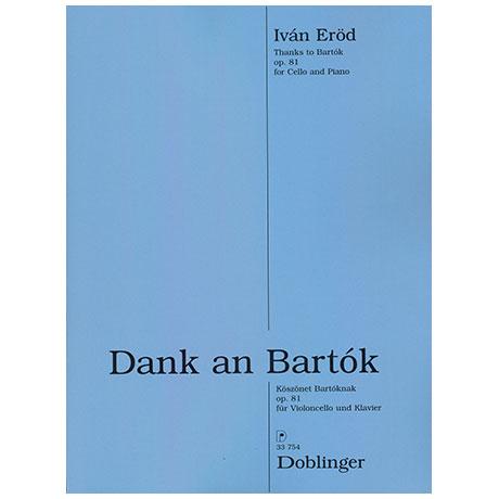Eröde, I.: Dank an Bartok Op.81