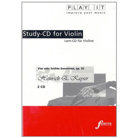 Kayser, H.E.: Vier sehr leichte Sonatinen Op.35 2 Play-Along-CDs (nur CDs)