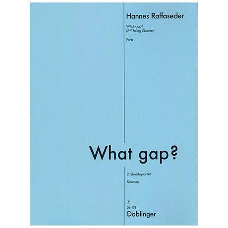 Raffaseder, H.: What gap? 2. Streichquartett