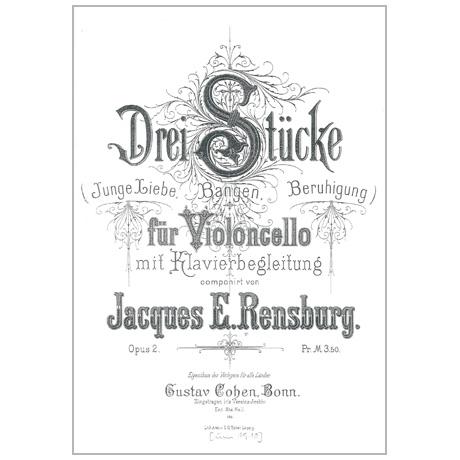 Rensburg, J. E.: 3 Stücke Op. 2