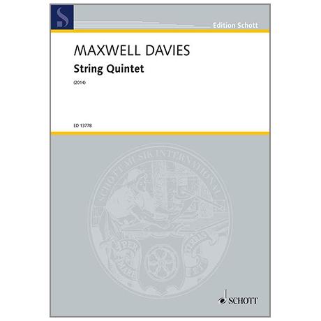 Maxwell Davies, P.: String Quintet