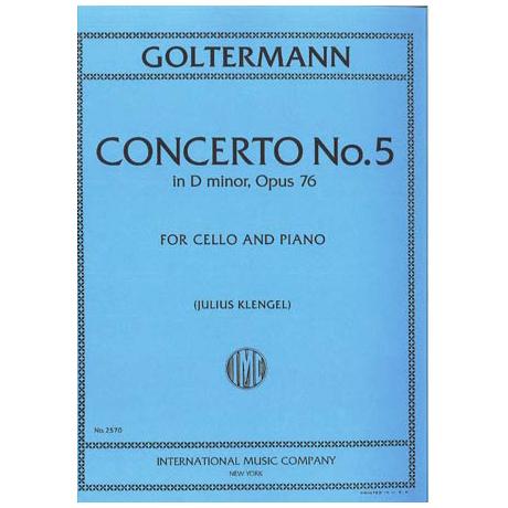 Goltermann, G.: Konzert Nr. 5 in d-moll op 76