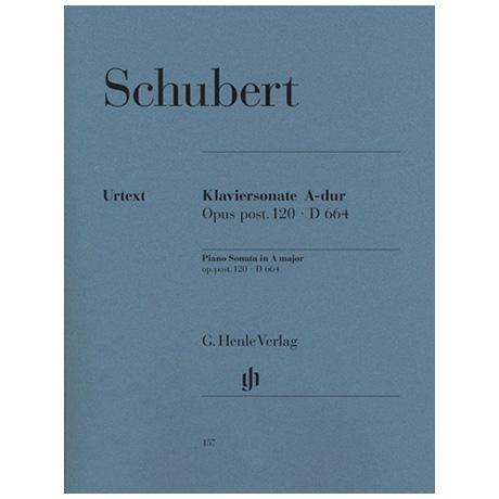 Schubert, F.: Klaviersonate A-Dur Op. post. 120 D 664